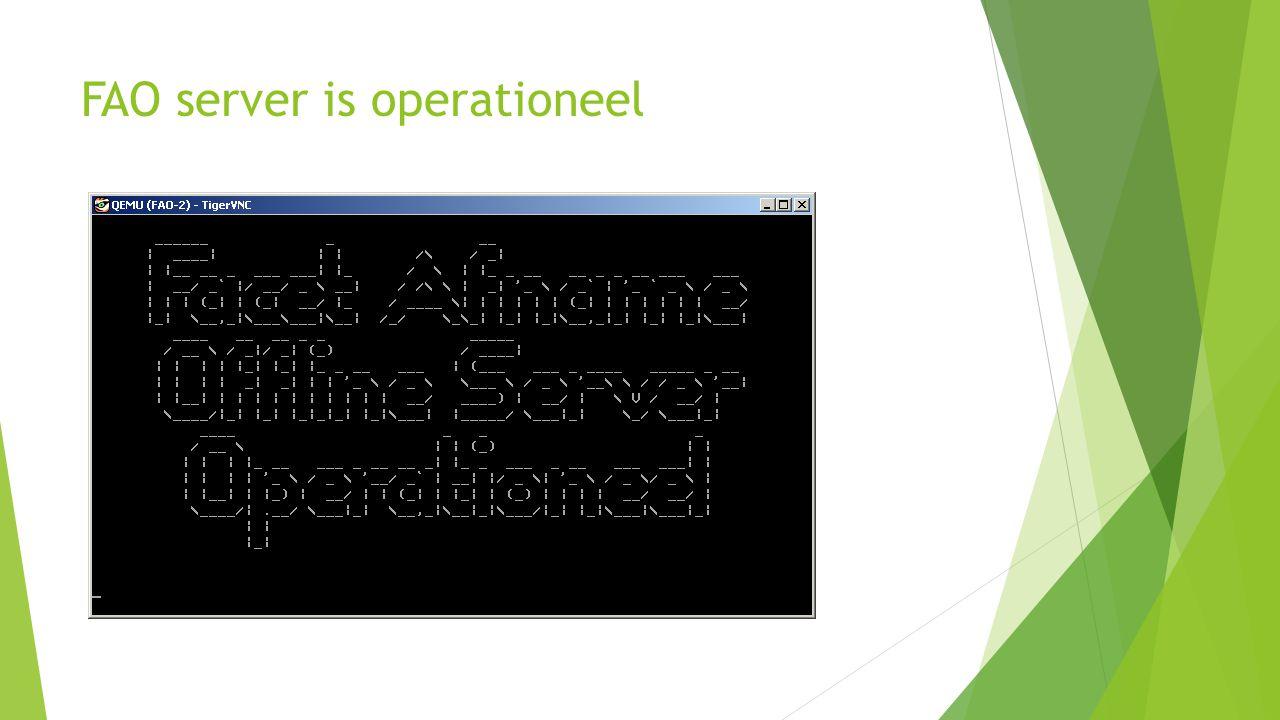 FAO server is operationeel