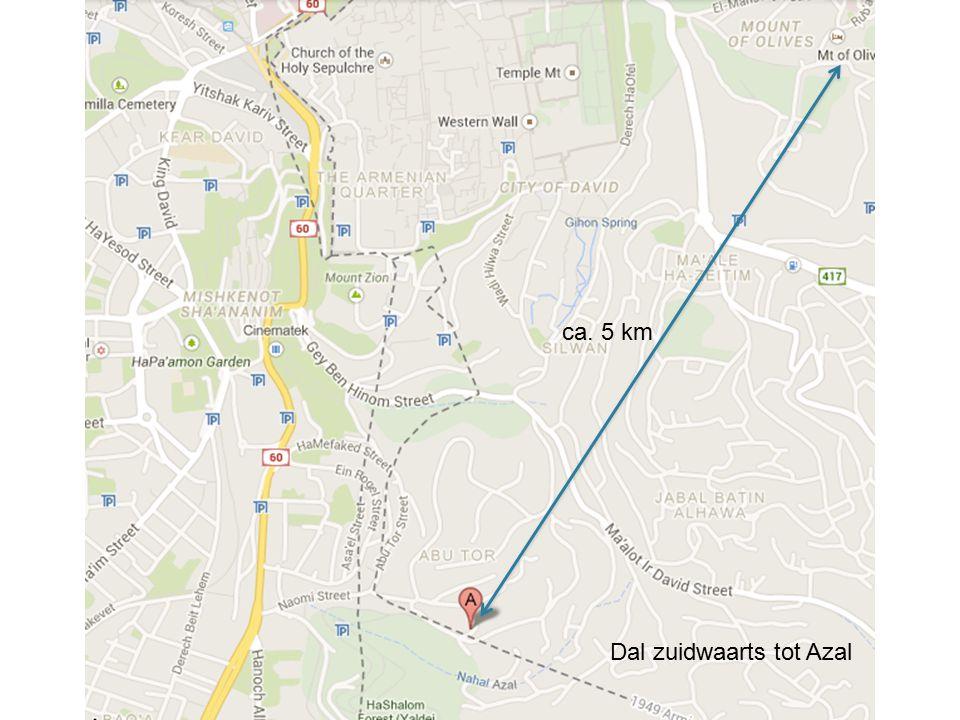 Dal zuidwaarts tot Azal ca. 5 km