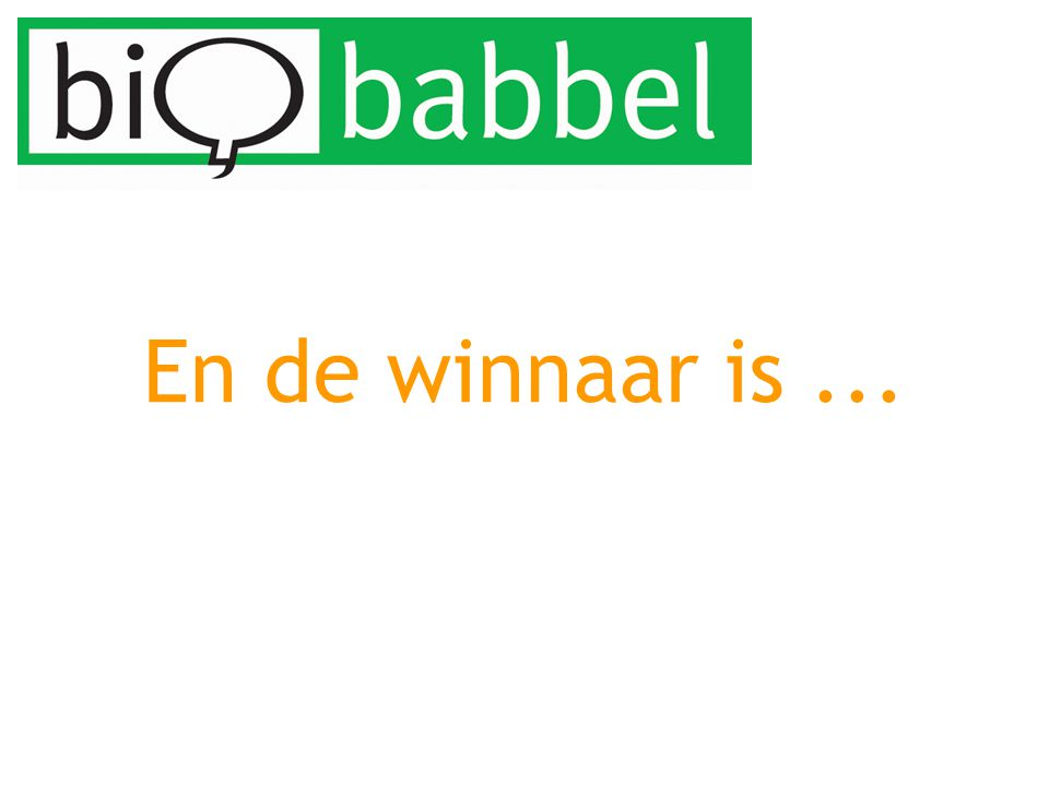 En de winnaar is...