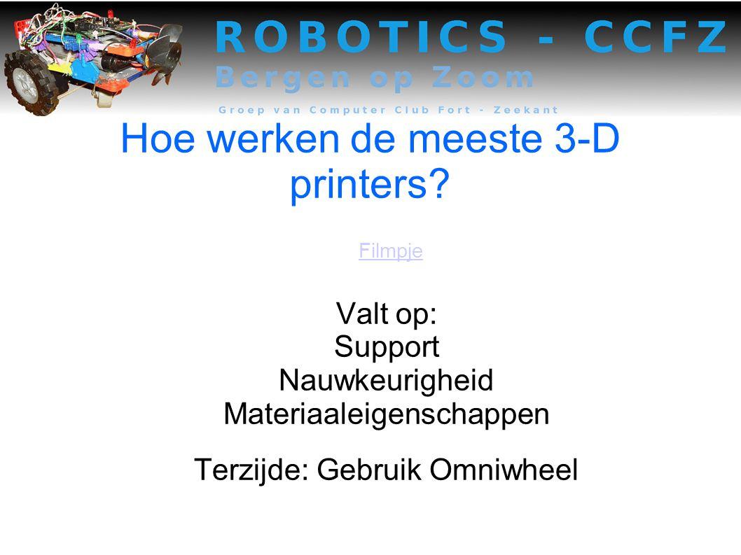 Hoe werken de meeste 3-D printers.