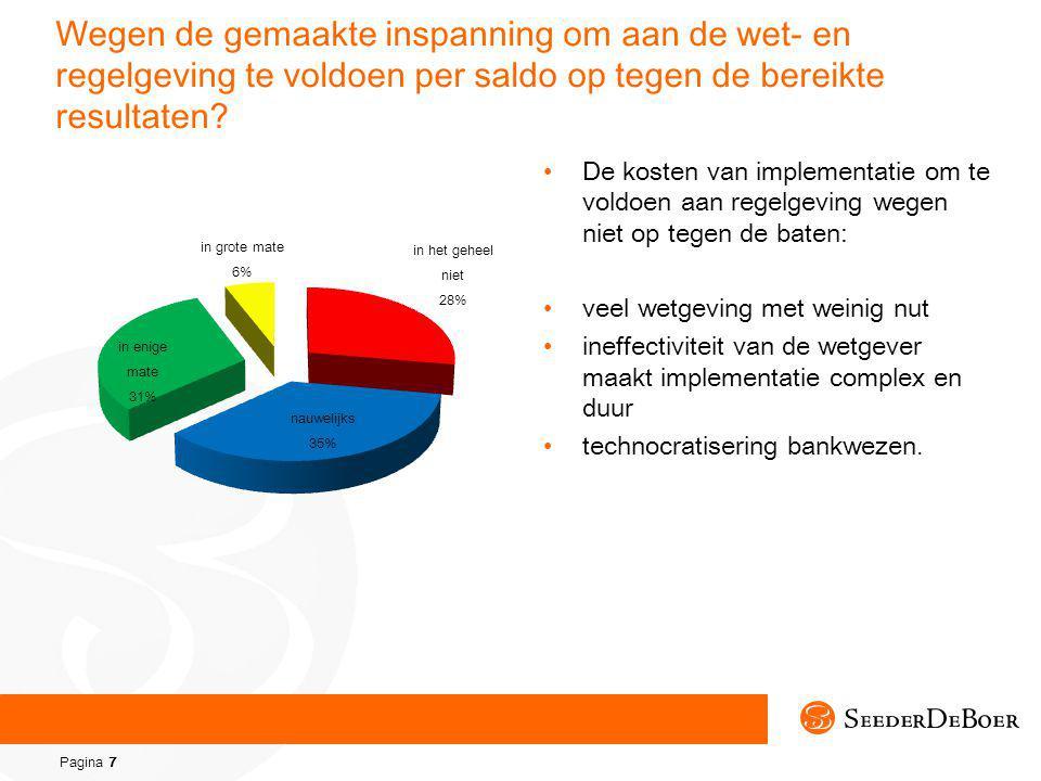Pagina 7 Wegen de gemaakte inspanning om aan de wet- en regelgeving te voldoen per saldo op tegen de bereikte resultaten.