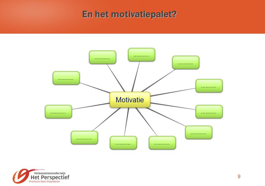 9 En het motivatiepalet?