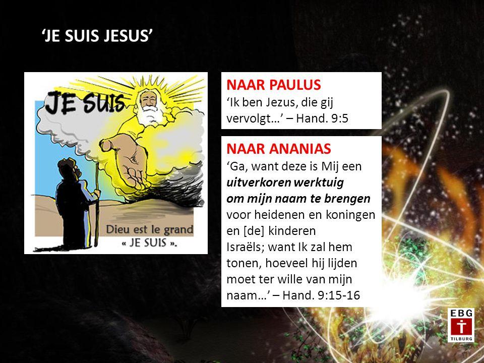 'JE SUIS JESUS' NAAR PAULUS 'Ik ben Jezus, die gij vervolgt…' – Hand.