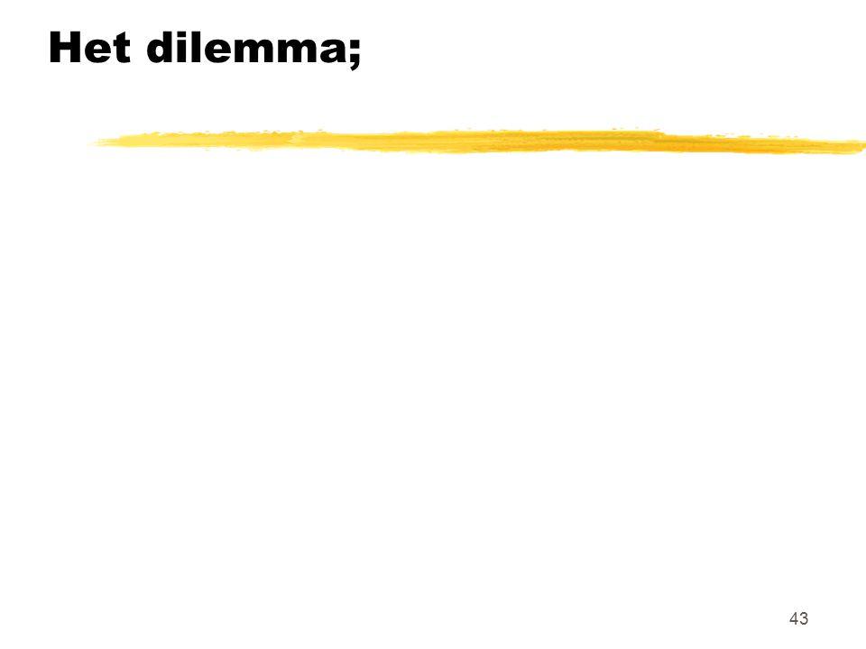 43 Het dilemma;