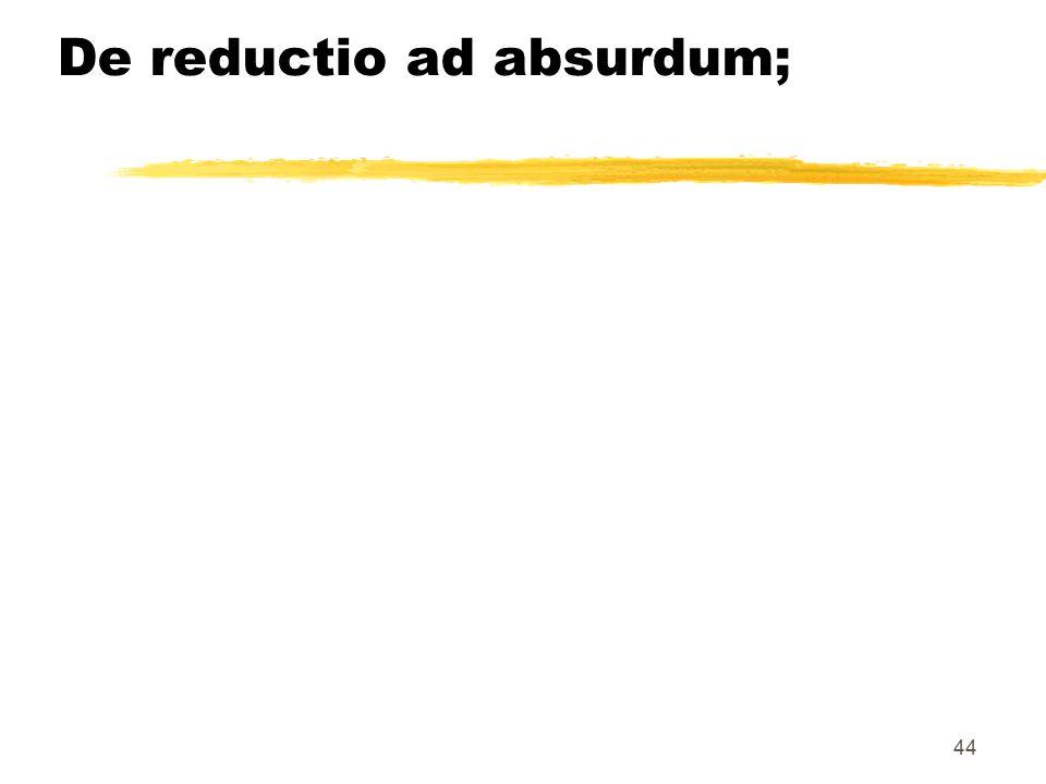 44 De reductio ad absurdum;