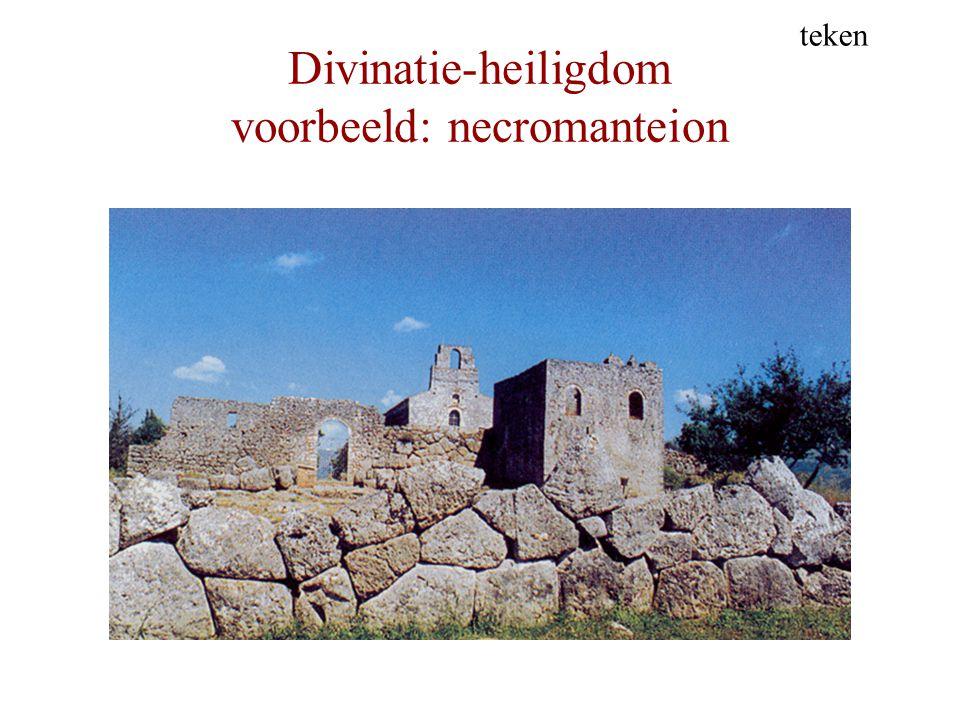 Divinatie-heiligdom voorbeeld: necromanteion teken