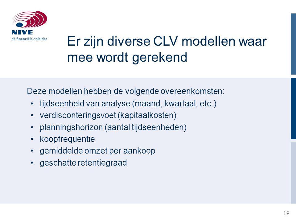 19 21-3-201519 Deze modellen hebben de volgende overeenkomsten: tijdseenheid van analyse (maand, kwartaal, etc.) verdisconteringsvoet (kapitaalkosten)
