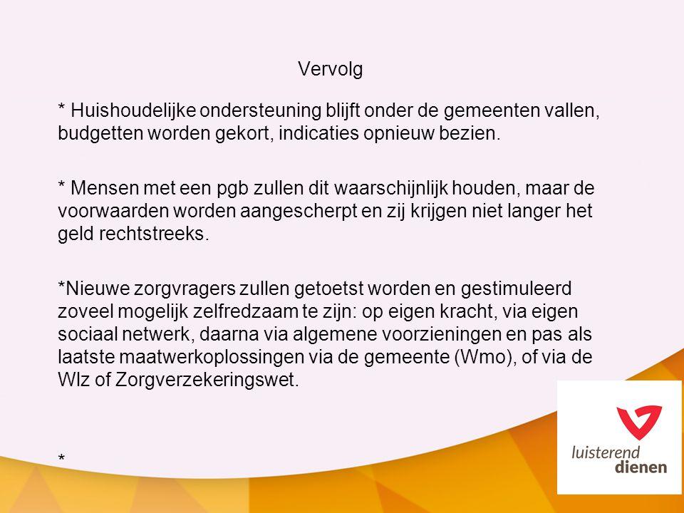 Gevolgen * Zorgplicht is veranderd in compensatieplicht (i.p.v.
