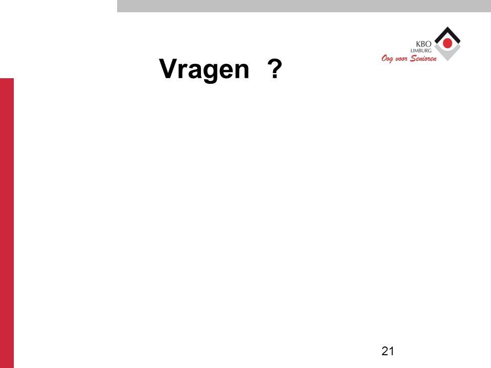 Vragen ? 21