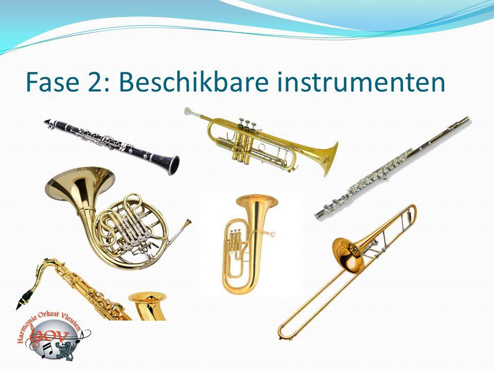 Fase 2: Beschikbare instrumenten