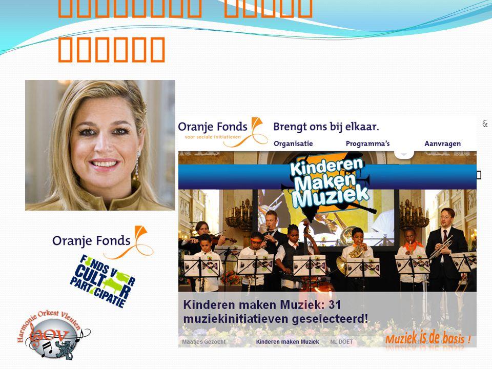 Kinderen maken Muziek 17 mei - Maxima viert haar 40 ste verjaardag & lanceert programma Kinderen maken Muziek 17 juli - Projectvoorstel Harmonie Orkes