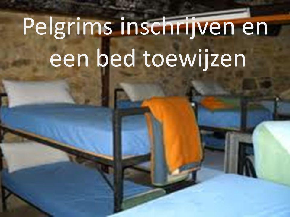 Pelgrims inschrijven en een bed toewijzen