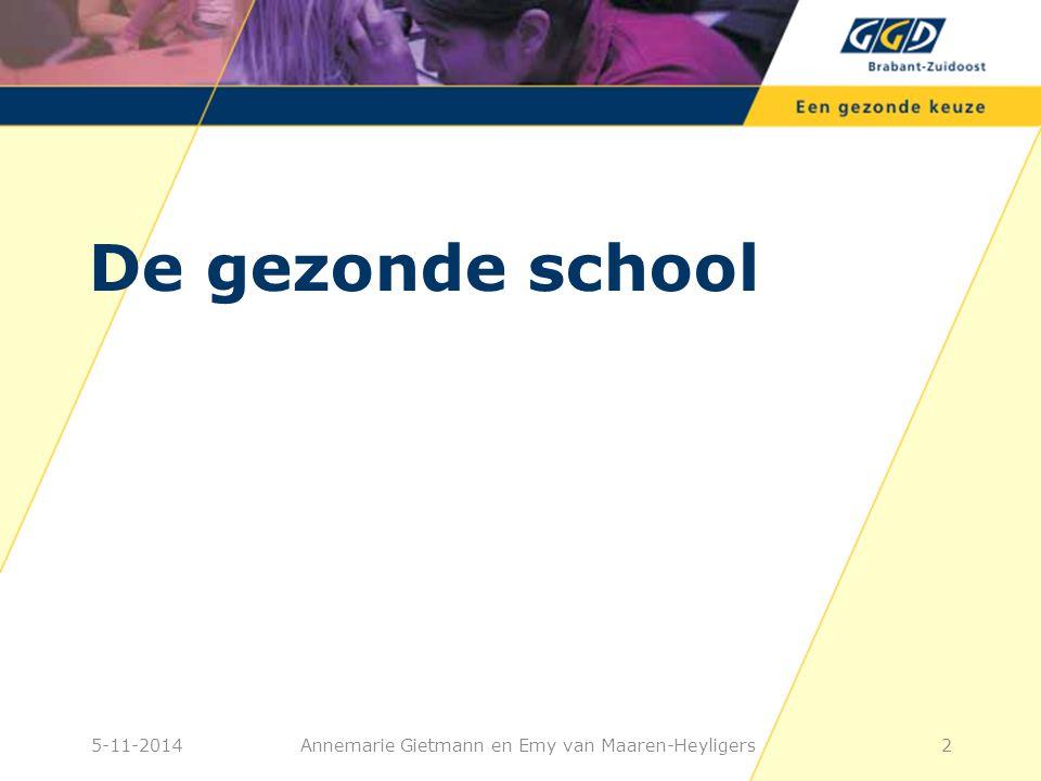 De gezonde school 25-11-2014Annemarie Gietmann en Emy van Maaren-Heyligers