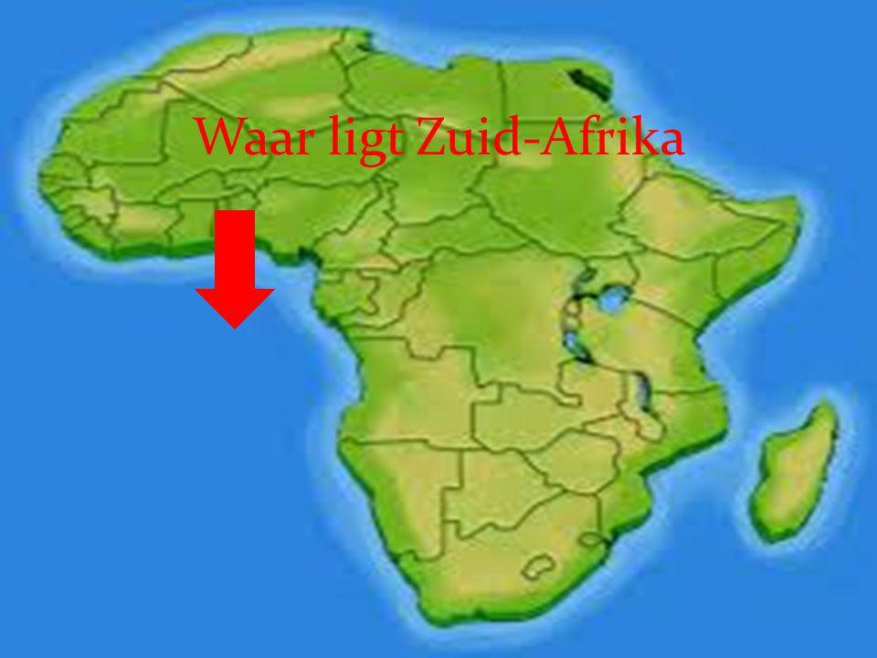 Waar ligt Zuid-Afrika