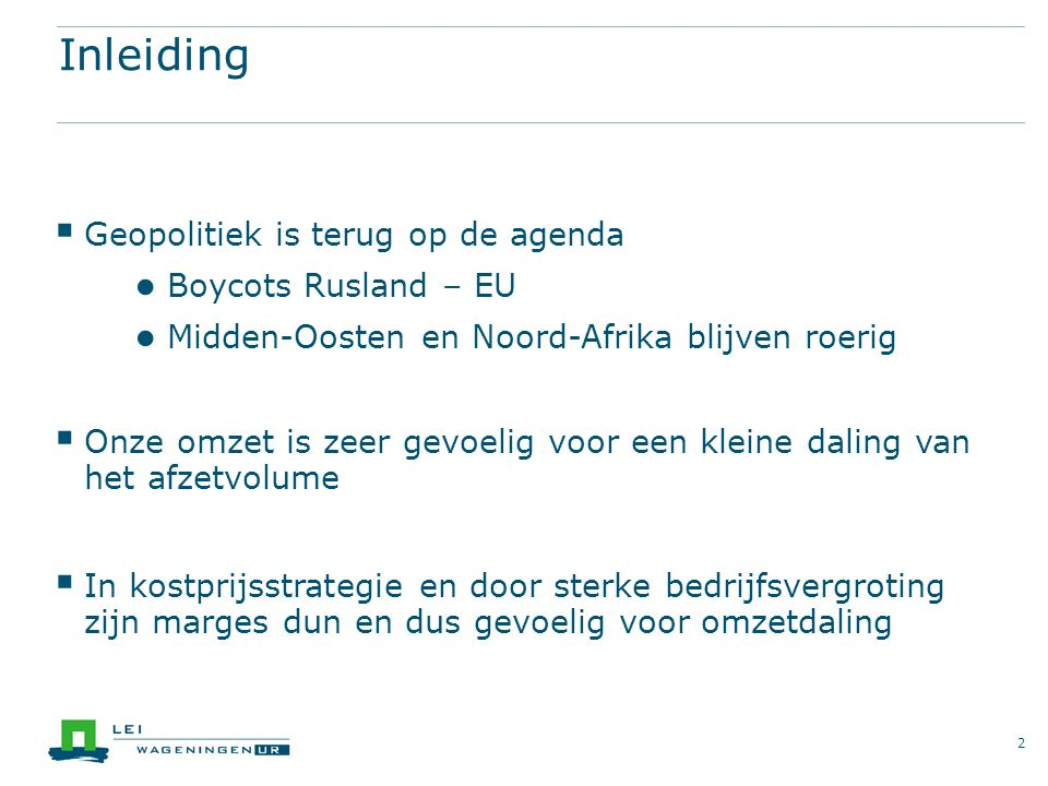 Waar kan Nederland op inzetten.