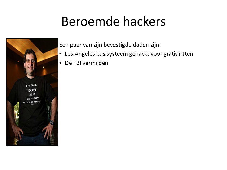 Beroemde hackers Een paar van zijn bevestigde daden zijn: Los Angeles bus systeem gehackt voor gratis ritten De FBI vermijden Een volledige beheerdersrecht verkregen van een IBM minicomputer in Los Angeles alleen maar om een weddenschap te winnen.