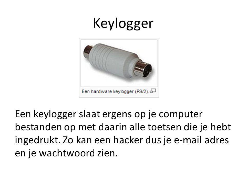 Keylogger Ook kan hij de gesprekken die je hebt op msn lezen of de berichten die je typt op social media.