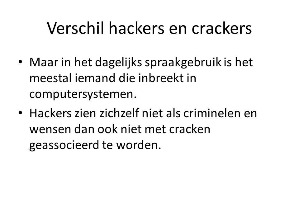 Vormen van hacken Ze