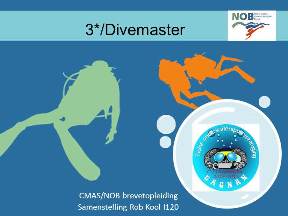 3*/Divemaster CMAS/NOB brevetopleiding Samenstelling Rob Kool I120