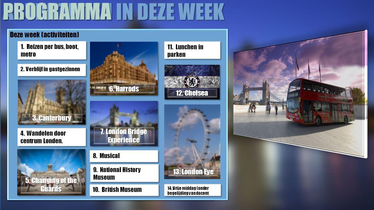 HANDIGE TIPS Deze week (activiteiten) 1.Reizen per bus, boot, metro 2.
