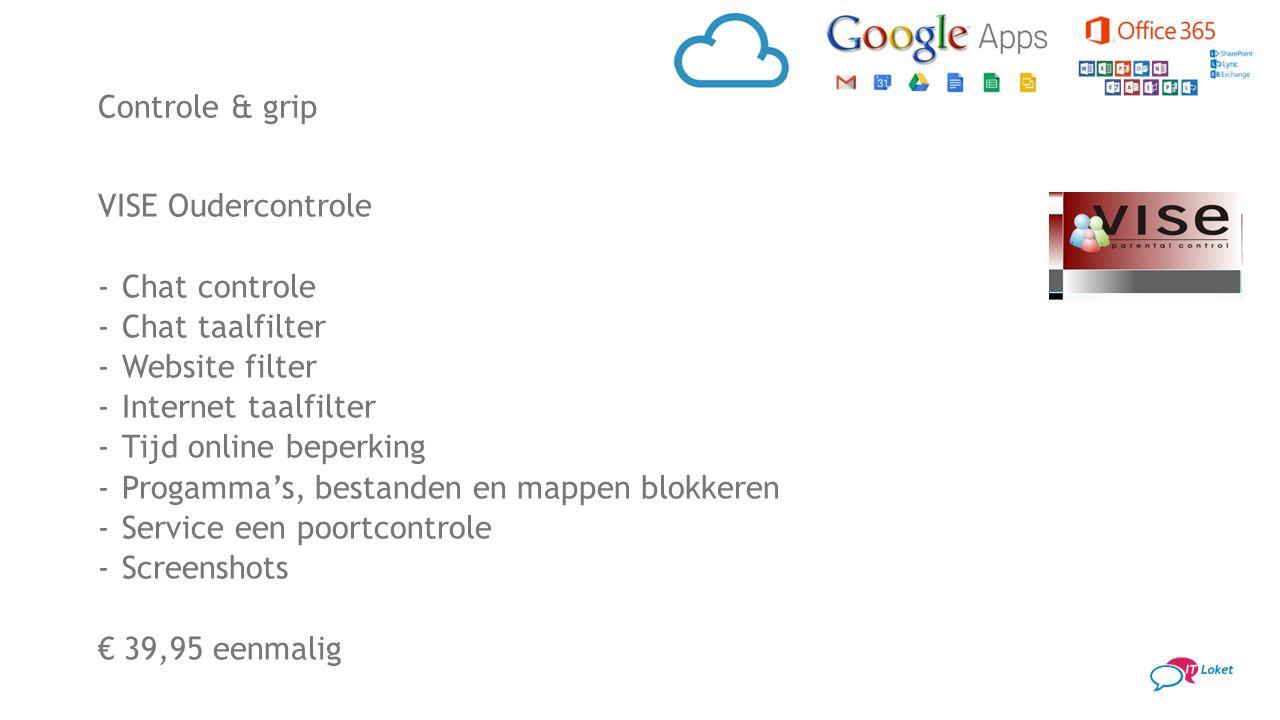 VISE Oudercontrole -Chat controle -Chat taalfilter -Website filter -Internet taalfilter -Tijd online beperking -Progamma's, bestanden en mappen blokke