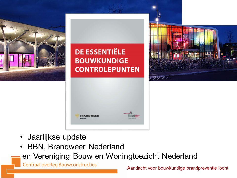 Jaarlijkse update BBN, Brandweer Nederland en Vereniging Bouw en Woningtoezicht Nederland