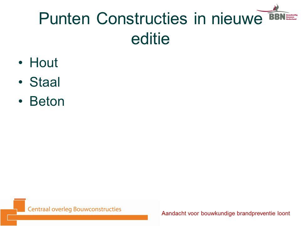 Punten Constructies in nieuwe editie Hout Staal Beton