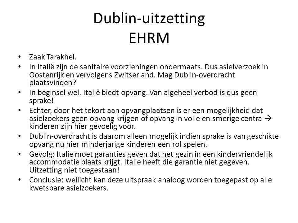 Dublin-uitzetting EHRM Zaak Tarakhel.In Italië zijn de sanitaire voorzieningen ondermaats.
