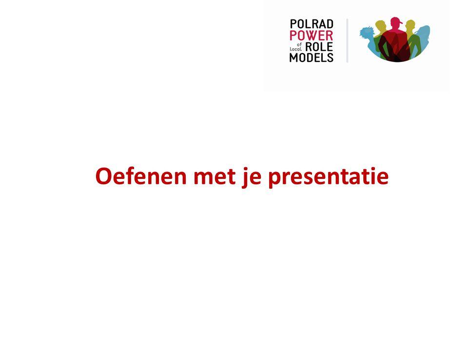Oefenen met je presentatie