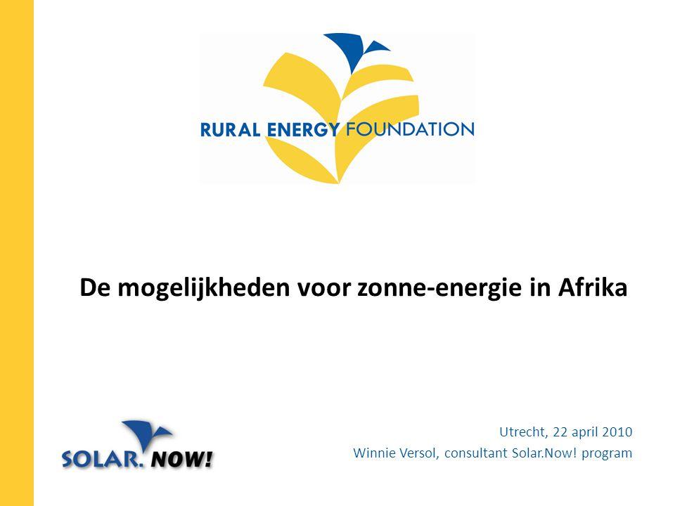 72% van Afrika off-grid (UNDP) REF Toegang tot energie versnelt sociaal-economische ontwikkeling in rurale gebeiden.