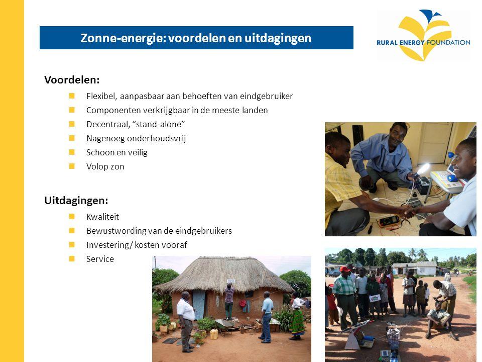 Electrificatie projecten vs.marktontwikkeling Decentrale electrificatie projecten (bijv.