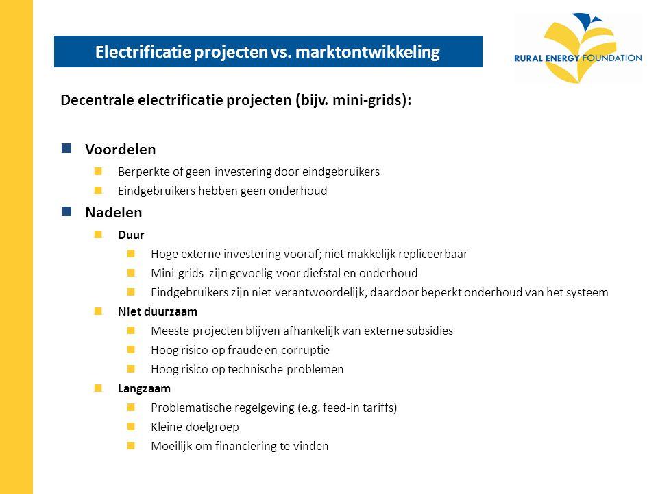 Electrificatie projecten vs.