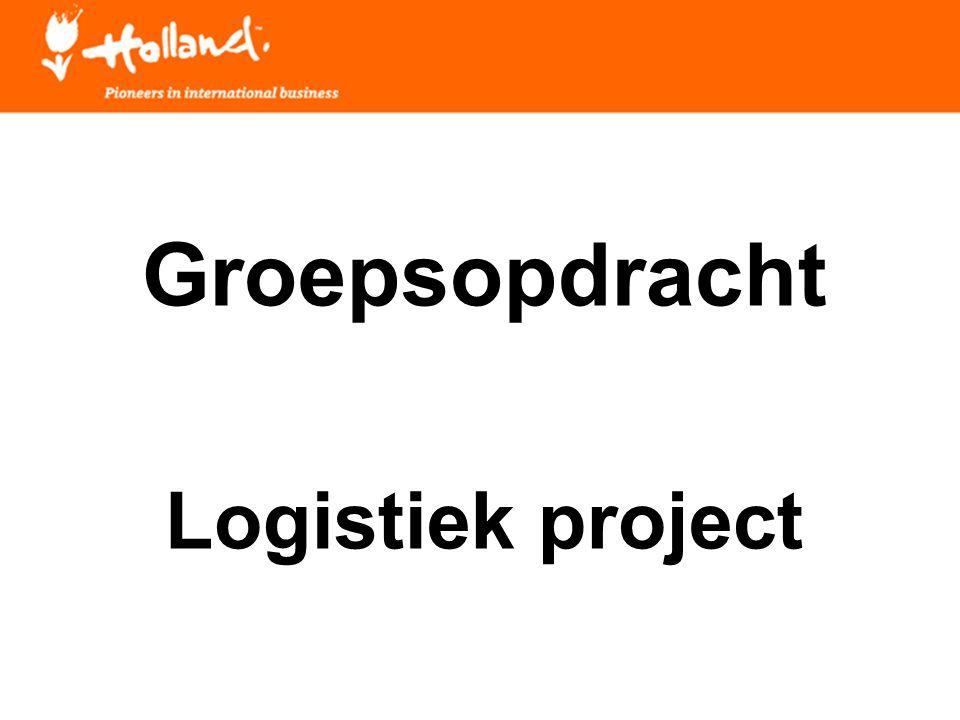 Groepsopdracht Logistiek project