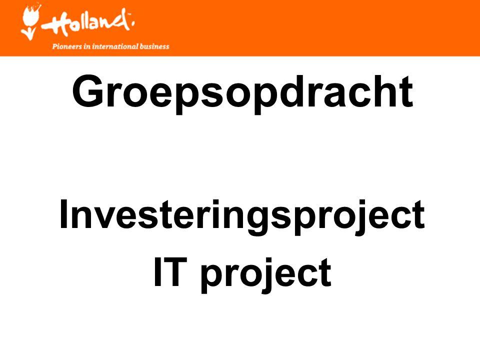 Opdracht: Groepsopdracht Uitwerken in 4 groepen Presenteren 1 laptop per groep 20-30 minuten