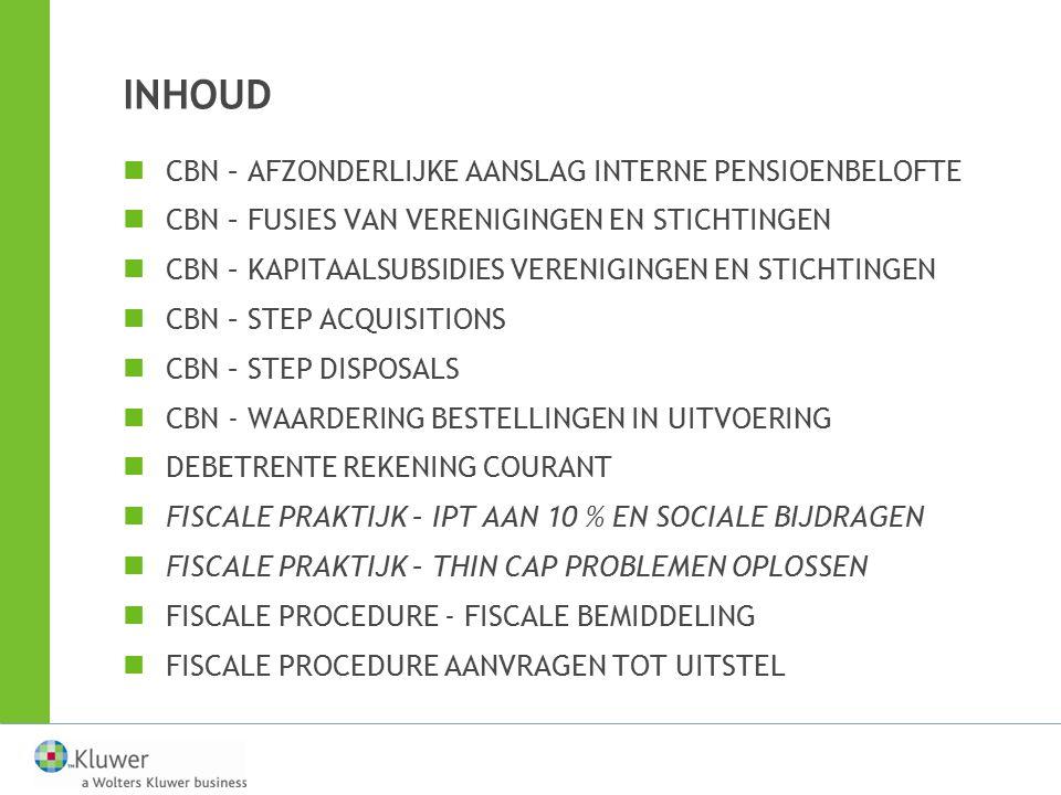BEGROTING 2013 Andere maatregelen —Combinatie DBI + NIA voor geldbeleggingen onmogelijk vanaf aj.
