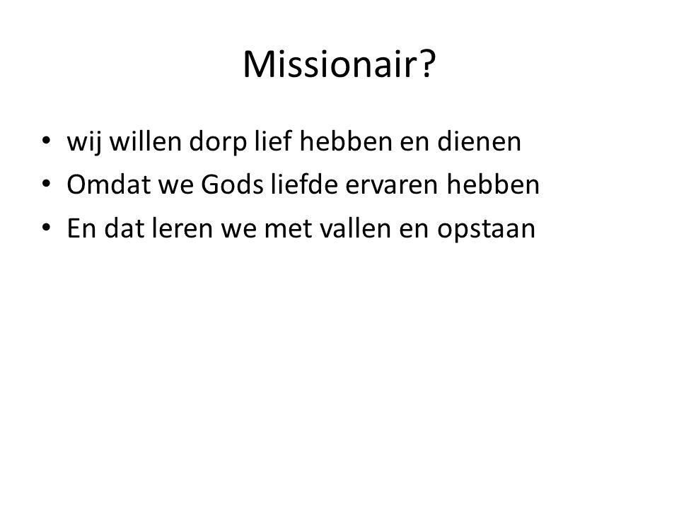 Missionair.