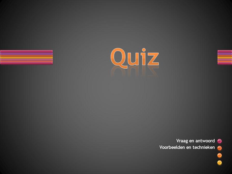 De volgende dia s bevatten voorbeeldvragen voor een quiz.