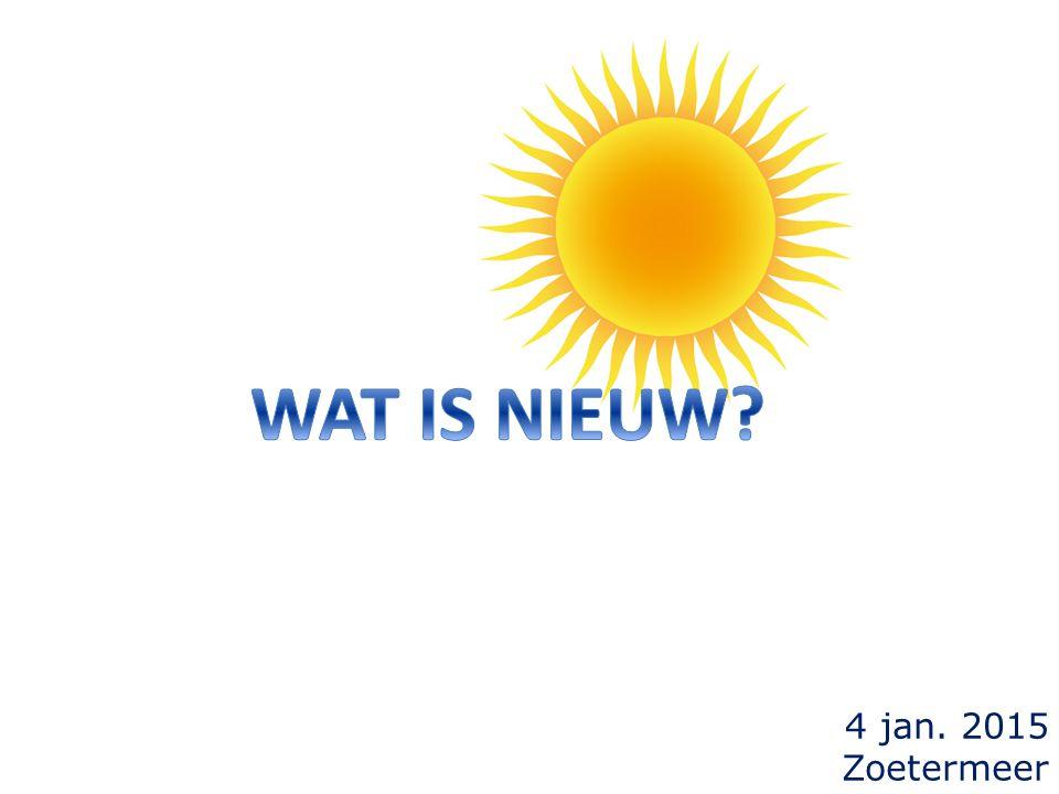 4 jan. 2015 Zoetermeer