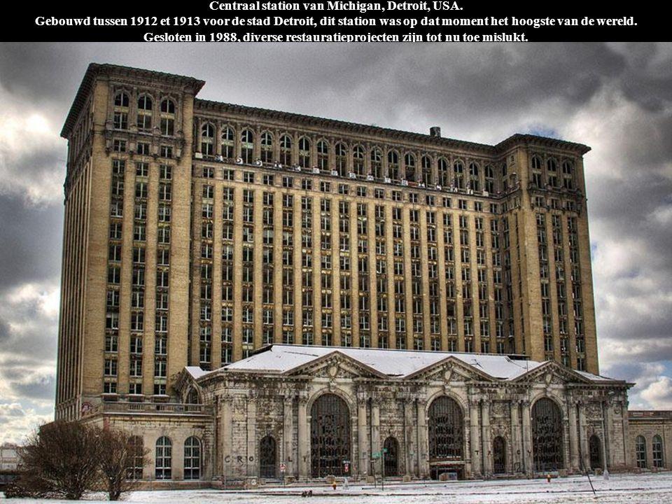 Centraal station van Michigan, Detroit, USA. Gebouwd tussen 1912 et 1913 voor de stad Detroit, dit station was op dat moment het hoogste van de wereld