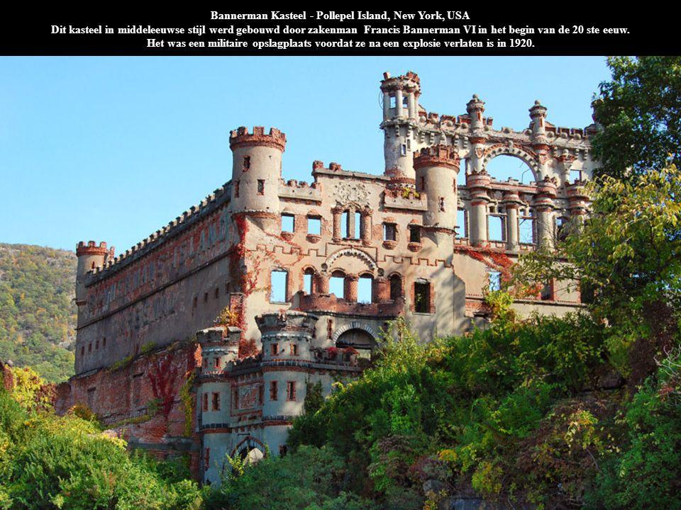 Bannerman Kasteel - Pollepel Island, New York, USA Dit kasteel in middeleeuwse stijl werd gebouwd door zakenman Francis Bannerman VI in het begin van