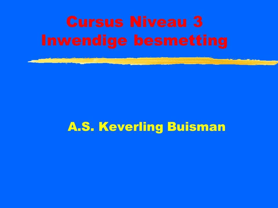 Cursus Niveau 3 Inwendige besmetting A.S. Keverling Buisman