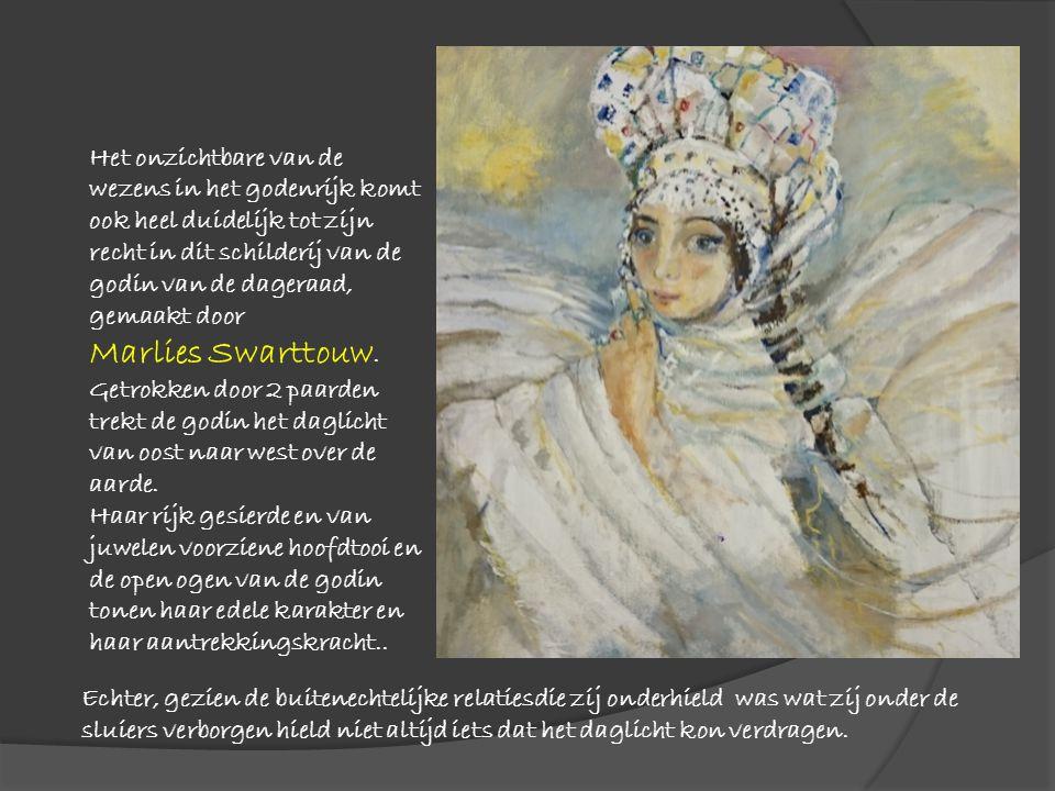 Richard Wagners opera Der Ring des Nibelungen was voor Marion Schmitz de inspiratiebron voor het aquarelleren van haar beeld van de godin.