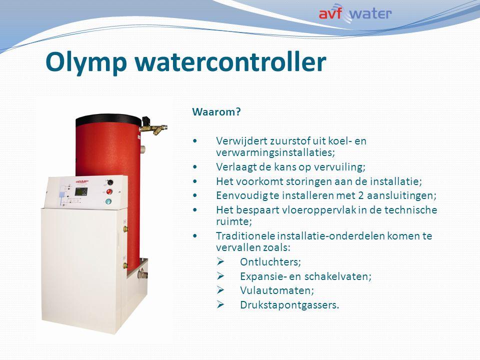 Olymp watercontroller Waarom? Verwijdert zuurstof uit koel- en verwarmingsinstallaties; Verlaagt de kans op vervuiling; Het voorkomt storingen aan de