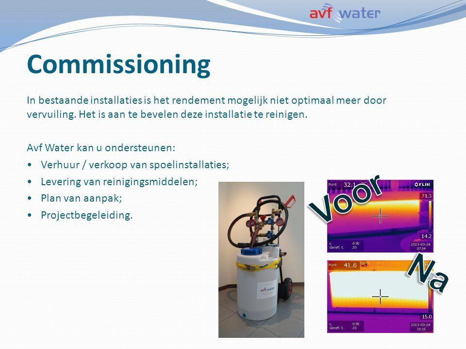 Commissioning In bestaande installaties is het rendement mogelijk niet optimaal meer door vervuiling. Het is aan te bevelen deze installatie te reinig