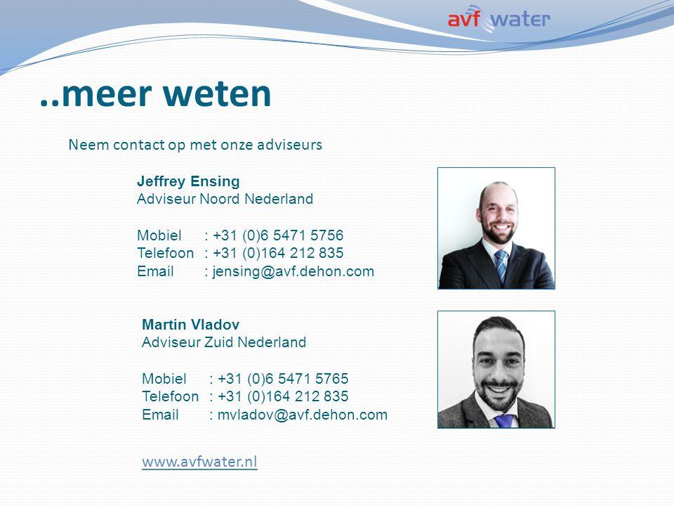 ..meer weten Jeffrey Ensing Adviseur Noord Nederland Mobiel: +31 (0)6 5471 5756 Telefoon: +31 (0)164 212 835 Email: jensing@avf.dehon.com Martin Vlado