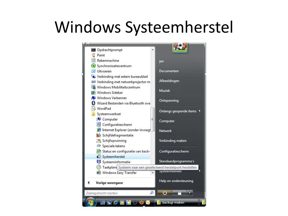 Windows Systeemherstel