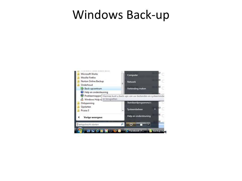Back-up terugzetten