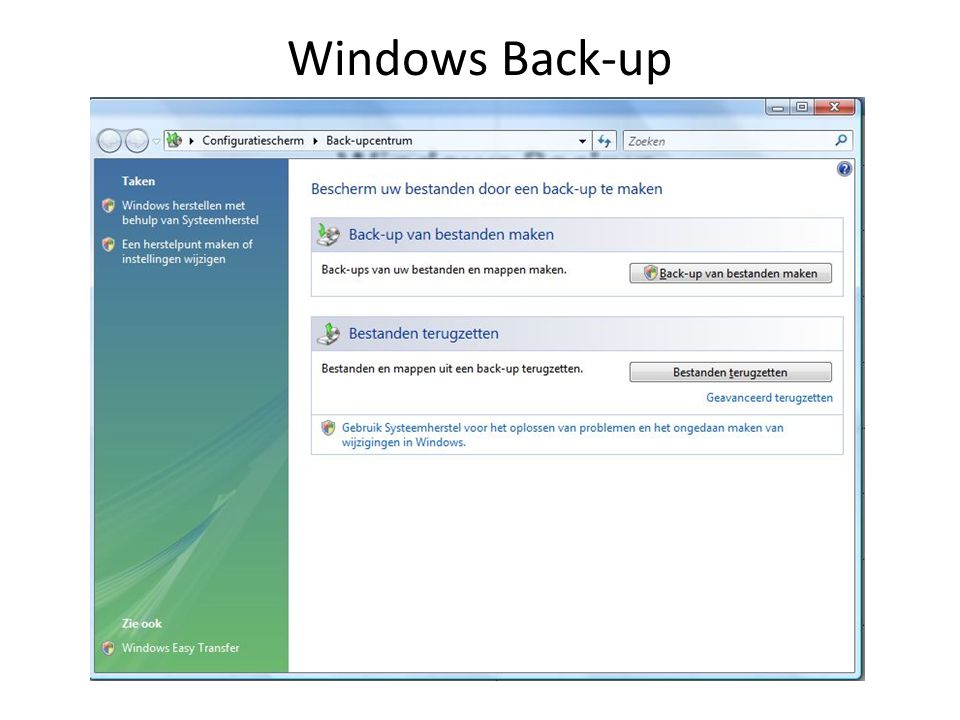 Image back-up (betalend) Norton Ghost Acronis True Image