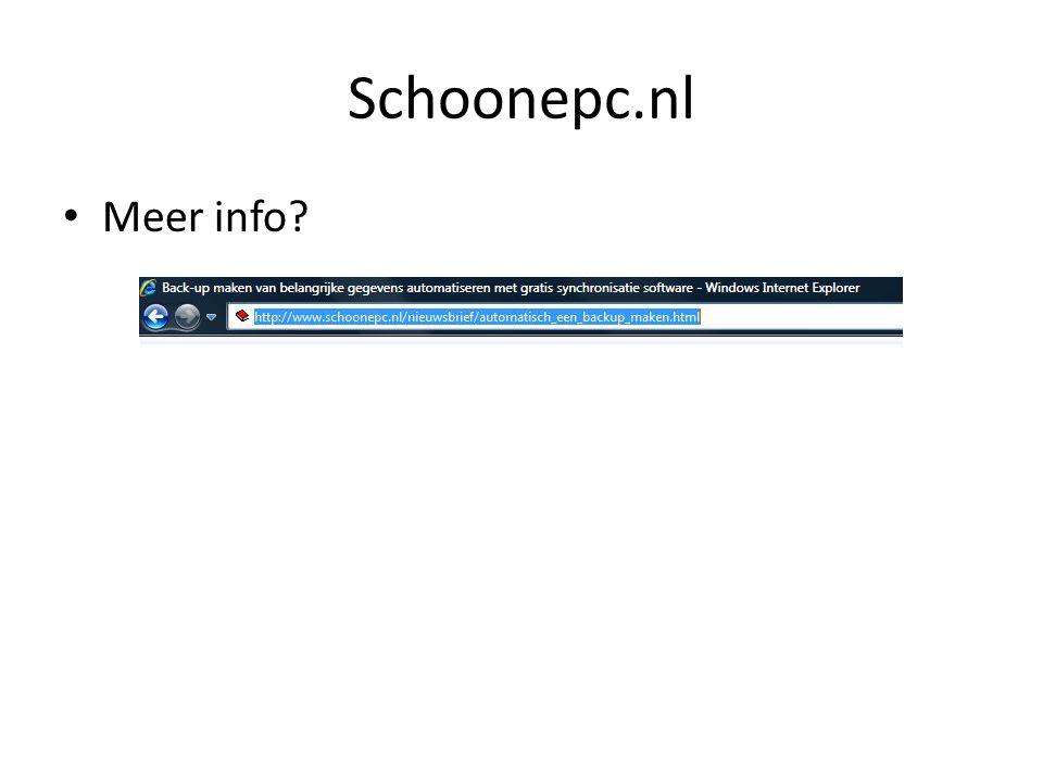 Schoonepc.nl Meer info?
