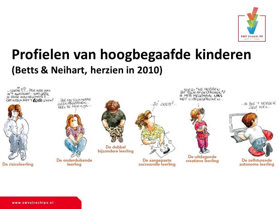 Profielen van hoogbegaafde kinderen (Betts & Neihart, herzien in 2010)